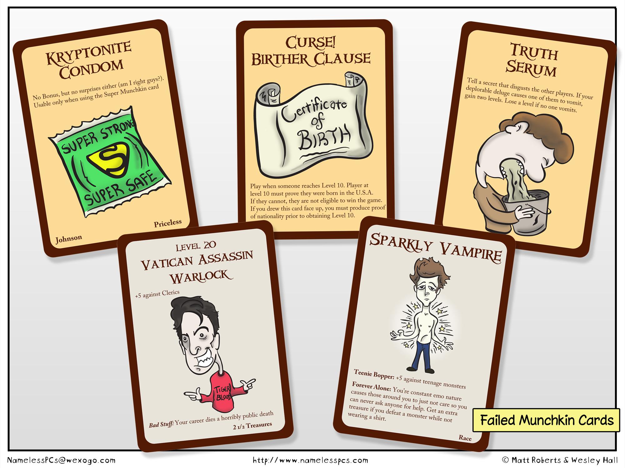 Failed Munchkin Cards