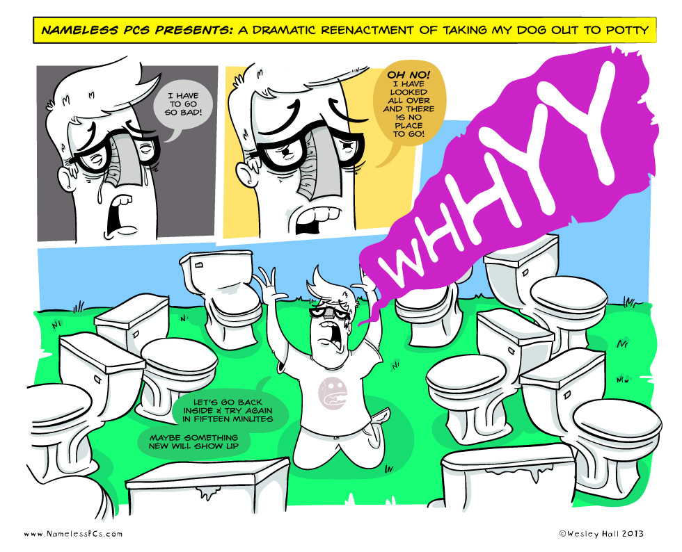 Potty Time: A Dramatic Reenactment